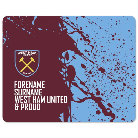 West Ham United FC Proud Mouse Mat-Poppy Stop-Poppy Stop