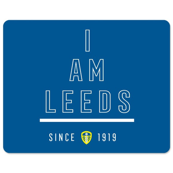 Leeds United FC I Am Mouse Mat-Poppy Stop-Poppy Stop