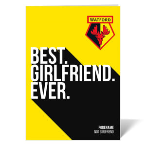 Watford FC Best Girlfriend Ever Card-Poppy Stop-ITP_GC_A4_UK-Poppy Stop