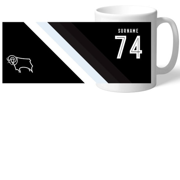 Derby County Stripe Mug-Poppy Stop-Poppy Stop