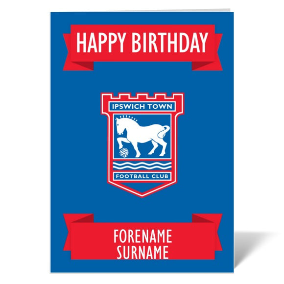Ipswich Town FC Crest Birthday Card-Poppy Stop-ITP_GC_A4_UK-Poppy Stop