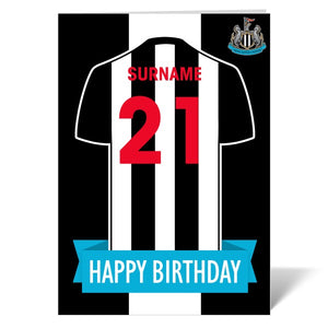 Newcastle United FC Shirt Birthday Card-Poppy Stop-Poppy Stop