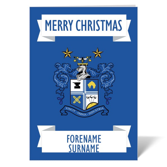 Bury FC Crest Christmas Card-Poppy Stop-ITP_GC_A4_UK-Poppy Stop