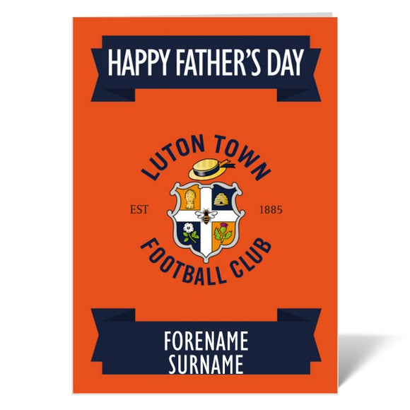 Luton Town FC Crest Father's Day Card-Poppy Stop-ITP_GC_A4_UK-Poppy Stop