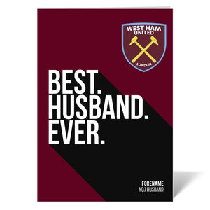 West Ham United FC Best Husband Ever Card-Poppy Stop-Poppy Stop