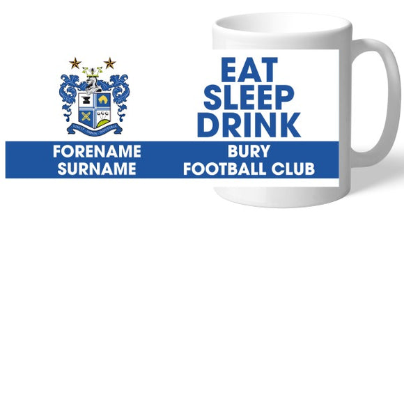 Bury FC Eat Sleep Drink Mug-Poppy Stop-Poppy Stop