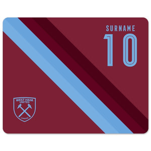 West Ham United FC Stripe Mouse Mat-Poppy Stop-Poppy Stop