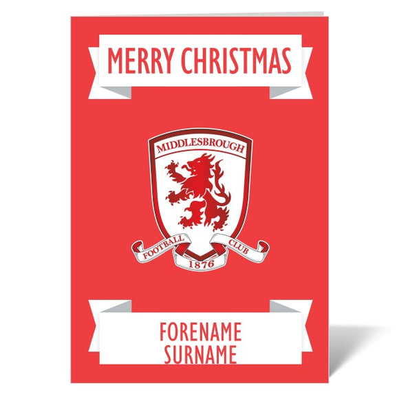 Middlesbrough FC Crest Christmas Card-Poppy Stop-ITP_GC_A4_UK-Poppy Stop