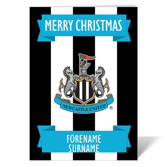 Newcastle United FC Crest Christmas Card-Poppy Stop-Poppy Stop
