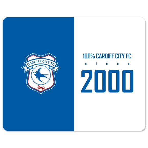 Cardiff City FC 100 Percent Mouse Mat-Poppy Stop-Poppy Stop