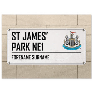 Newcastle United FC Street Sign Jigsaw-Poppy Stop-Poppy Stop