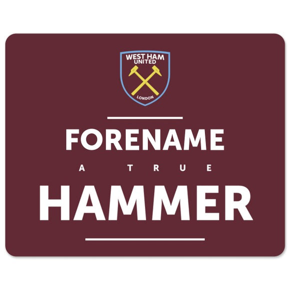 West Ham United FC True Mouse Mat-Poppy Stop-Poppy Stop