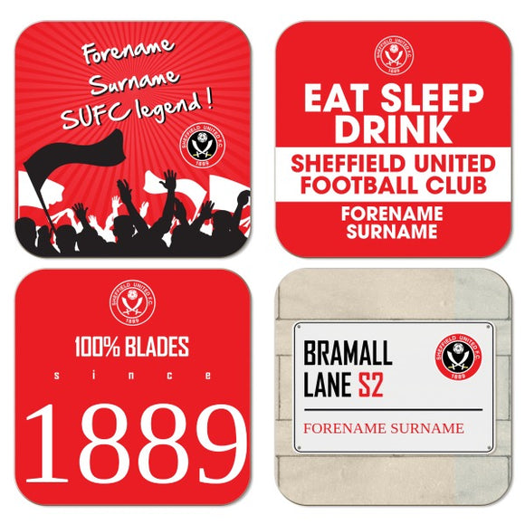 Sheffield United FC Coasters-Poppy Stop-Poppy Stop