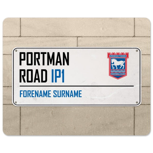 Ipswich Town FC Street Sign Mouse Mat-Poppy Stop-Poppy Stop