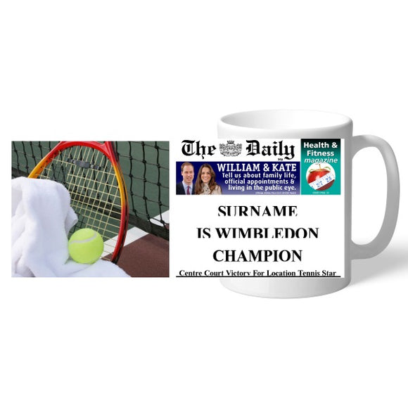 The Daily Female Tennis Mug-Poppy Stop-Poppy Stop