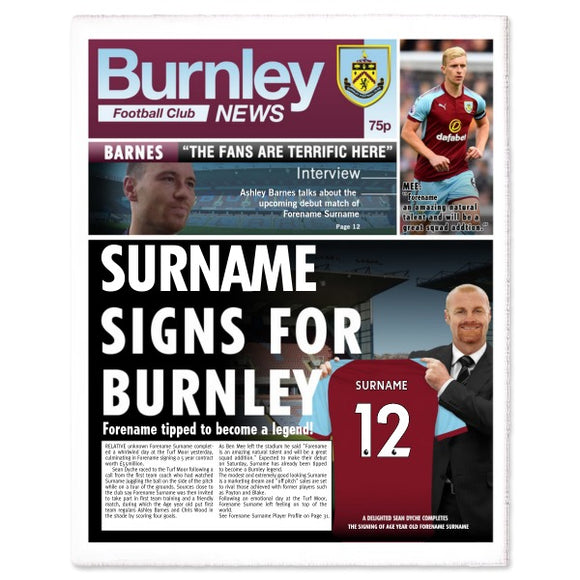 Burnley FC News Single Page Print-Poppy Stop-Poppy Stop