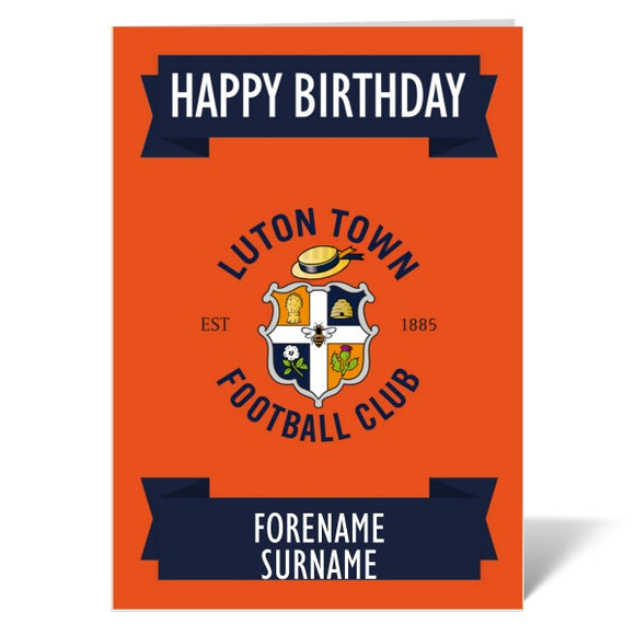 Luton Town FC Crest Birthday Card-Poppy Stop-ITP_GC_A4_UK-Poppy Stop