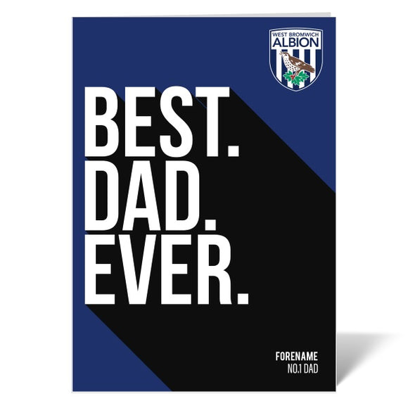 West Bromwich Albion FC Best Dad Ever Card-Poppy Stop-ITP_GC_A4_UK-Poppy Stop