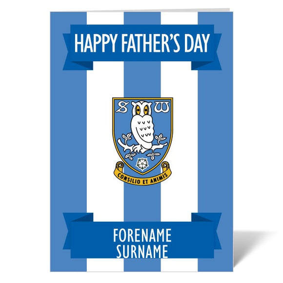 Sheffield Wednesday FC Crest Father's Day Card-Poppy Stop-ITP_GC_A4_UK-Poppy Stop