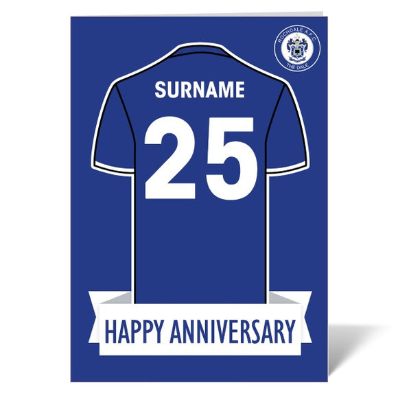 Rochdale AFC Shirt Anniversary Card-Poppy Stop-ITP_GC_A4_UK-Poppy Stop