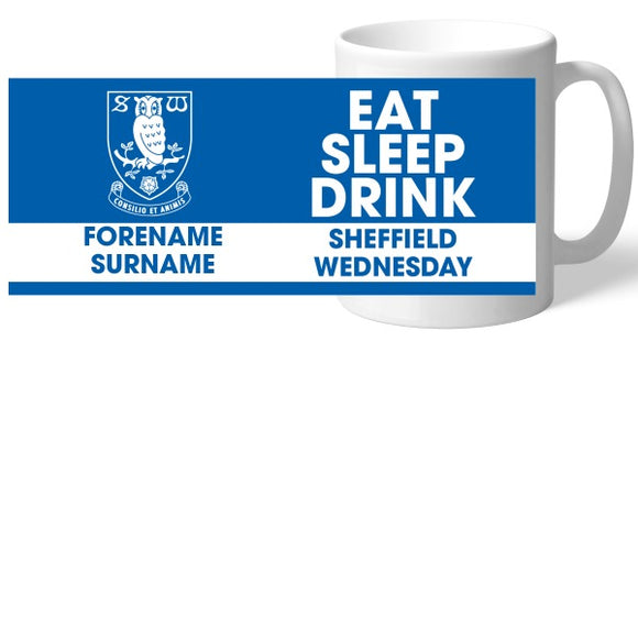 Sheffield Wednesday FC Eat Sleep Drink Mug-Poppy Stop-Poppy Stop