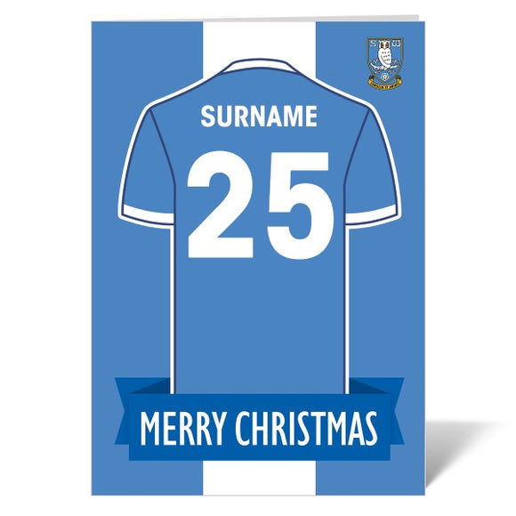 Sheffield Wednesday FC Shirt Christmas Card-Poppy Stop-ITP_GC_A4_UK-Poppy Stop