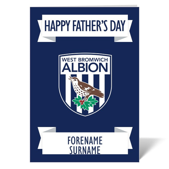 West Bromwich Albion FC Crest Father's Day Card-Poppy Stop-ITP_GC_A4_UK-Poppy Stop