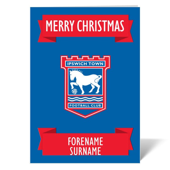 Ipswich Town FC Crest Christmas Card-Poppy Stop-ITP_GC_A4_UK-Poppy Stop