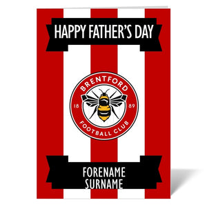 Brentford FC Crest Father's Day Card-Poppy Stop-ITP_GC_A4_UK-Poppy Stop