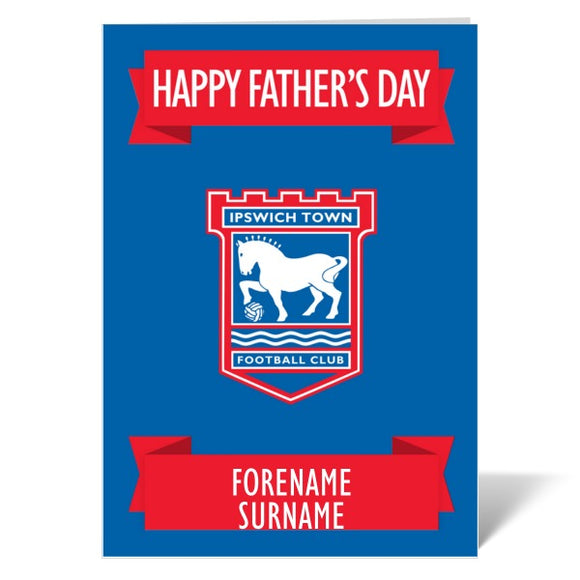 Ipswich Town FC Crest Father's Day Card-Poppy Stop-ITP_GC_A4_UK-Poppy Stop