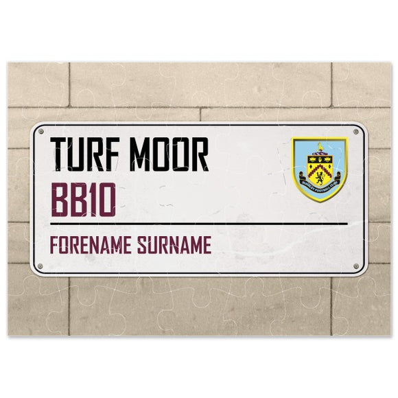Burnley FC Street Sign Jigsaw-Poppy Stop-Poppy Stop