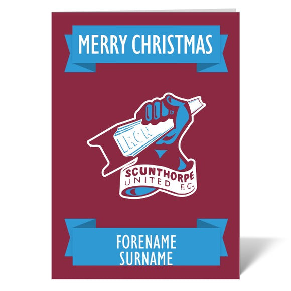 Scunthorpe United FC Crest Christmas Card-Poppy Stop-ITP_GC_A4_UK-Poppy Stop