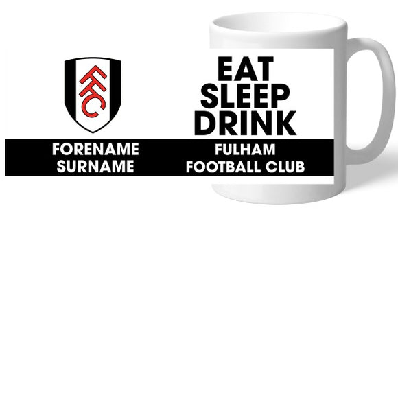 Fulham FC Eat Sleep Drink Mug-Poppy Stop-Poppy Stop