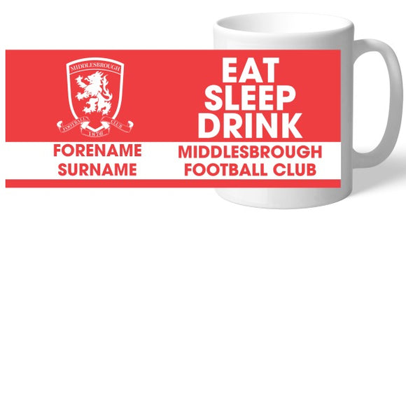 Middlesbrough FC Eat Sleep Drink Mug-Poppy Stop-Poppy Stop