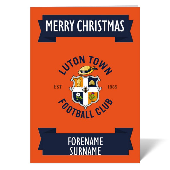 Luton Town FC Crest Christmas Card-Poppy Stop-ITP_GC_A4_UK-Poppy Stop