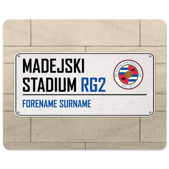 Reading FC Street Sign Mouse Mat-Poppy Stop-Poppy Stop