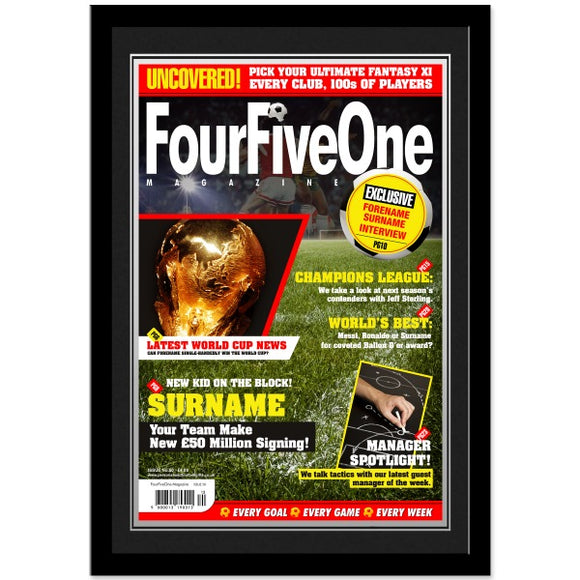 Personalised Football Magazine Front Cover - Framed-Poppy Stop-Poppy Stop