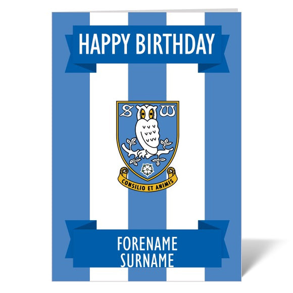 Sheffield Wednesday FC Crest Birthday Card-Poppy Stop-ITP_GC_A5_UK-Poppy Stop