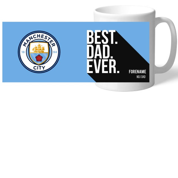Manchester City FC Best Dad Ever Mug-Poppy Stop-Poppy Stop