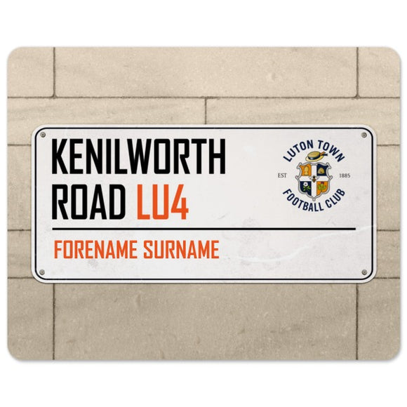 Luton Town FC Street Sign Mouse Mat-Poppy Stop-Poppy Stop