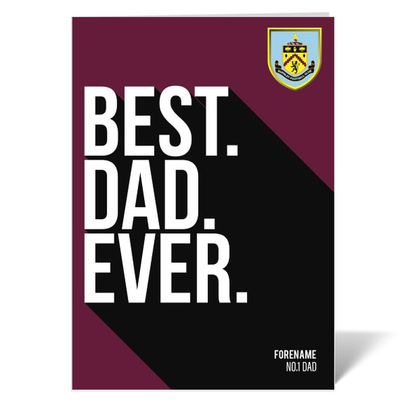 Burnley FC Best Dad Ever Card-Poppy Stop-ITP_GC_A4_UK-Poppy Stop