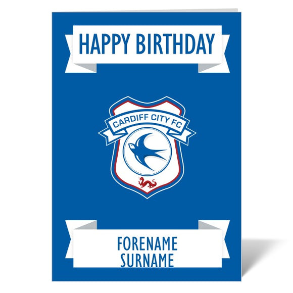 Cardiff City FC Crest Birthday Card-Poppy Stop-ITP_GC_A4_UK-Poppy Stop