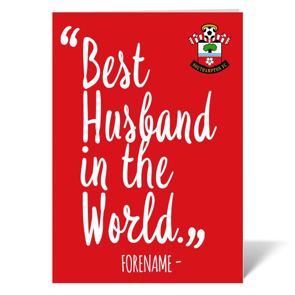 Southampton FC Best Husband In The World Card-Poppy Stop-ITP_GC_A4_UK-Poppy Stop