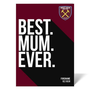 West Ham United FC Best Mum Ever Card-Poppy Stop-Poppy Stop