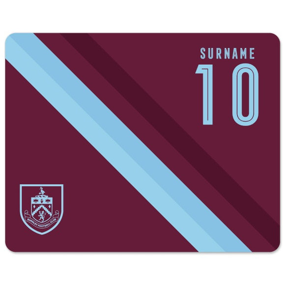 Burnley FC Stripe Mouse Mat-Poppy Stop-Poppy Stop
