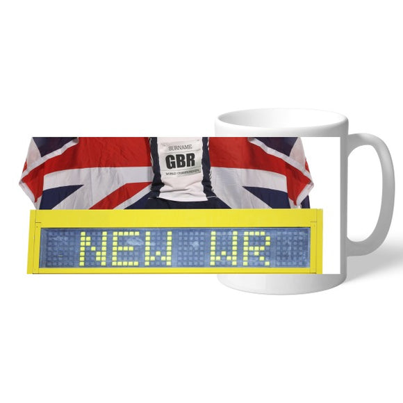 Personalised Athletics Mug-Poppy Stop-Poppy Stop