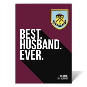 Burnley FC Best Husband Ever Card-Poppy Stop-ITP_GC_A4_UK-Poppy Stop
