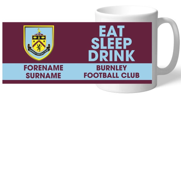 Burnley FC Eat Sleep Drink Mug-Poppy Stop-Poppy Stop