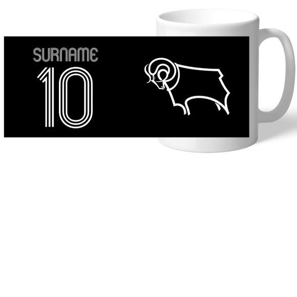 Derby County Retro Shirt Mug-Poppy Stop-Poppy Stop