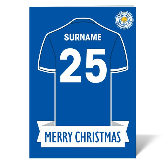 Leicester City FC Shirt Christmas Card-Poppy Stop-ITP_GC_A4_UK-Poppy Stop